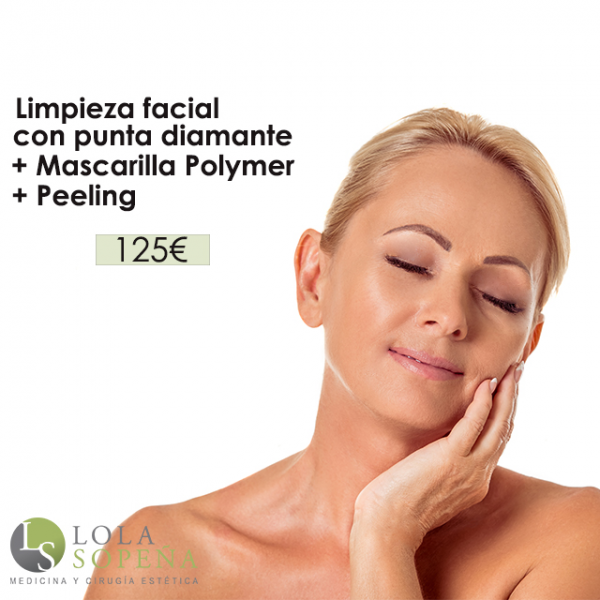 Limpieza facial con punta de diamante + Peeling + Mascarilla Polymer 125€ en TodoEstetica.com