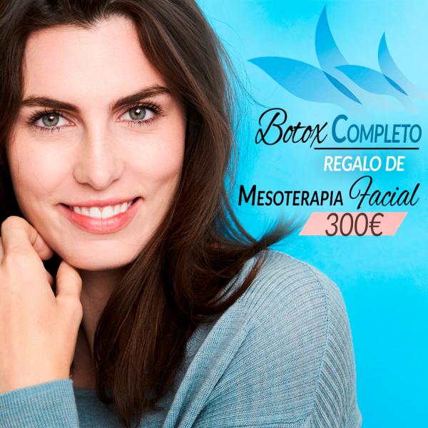 Botox completo + sesión de mesoterapia facial 300€
