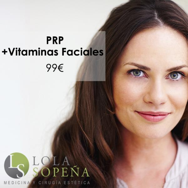 PRP (Plasma Rico en Plaquetas) + Vitaminas faciales infiltradas 99€
