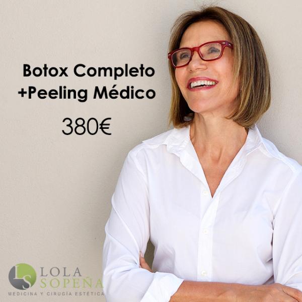 Botox Completo + Peeling Médico 380€ en TodoEstetica.com