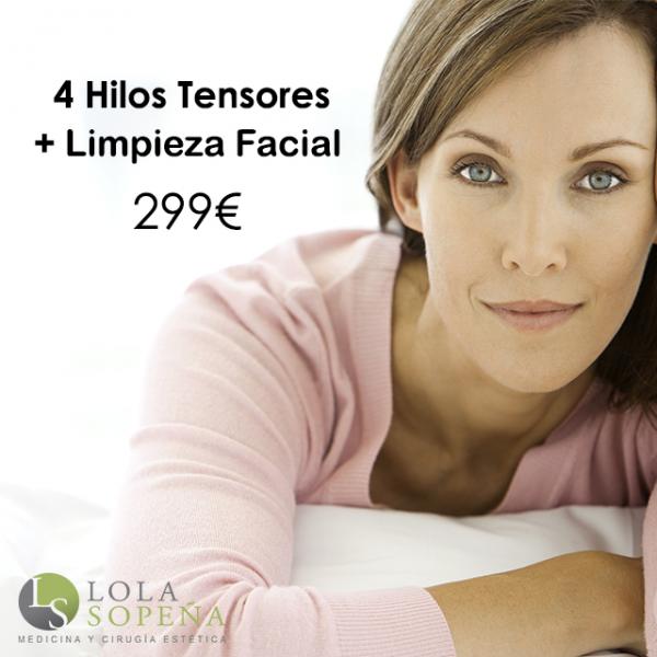 4 Hilos Tensores Espiculados + Limpieza Facial 299€
