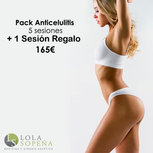 Pack Anticelulitis 5 sesiones + 1 sesión de regalo  en TodoEstetica.com