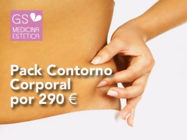 Pack contorno corporal masaje reductor reafirmante +láser lipolisis 4 sesiones +1 de regalo 290 euros