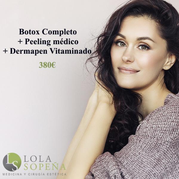 Botox Completo + Peeling + Dermapen Vitaminado 380€