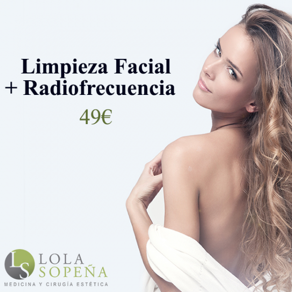 Limpieza facial + Radiofrecuencia facial 49€