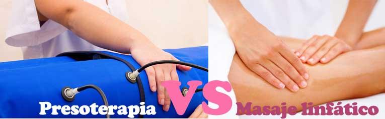Diferencias entre presoterapia y masaje linfatico manual